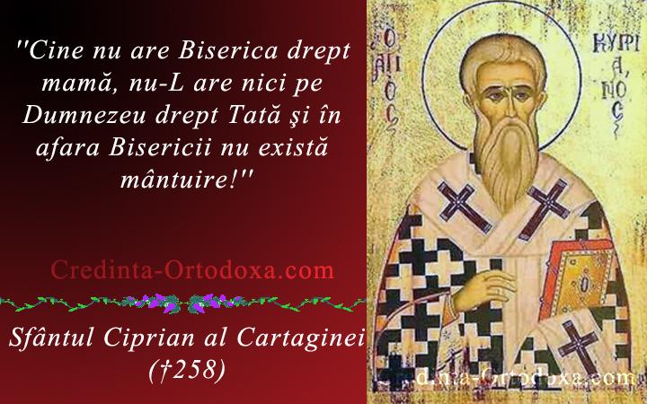 Sfaturi Duhovnicesti: Sfantul Ciprian al Cartaginei