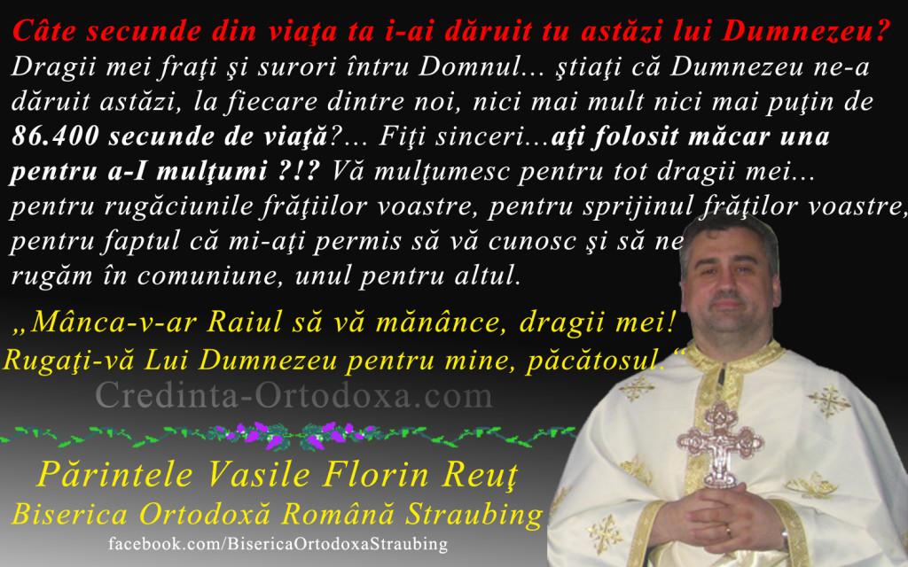 """Parintele Vasile Florin Reut, Biserica Ortodoxa Romana """"Sfintii Imparati Constantin si Elena"""" Straubing * www.credinta-ortodoxa.com"""
