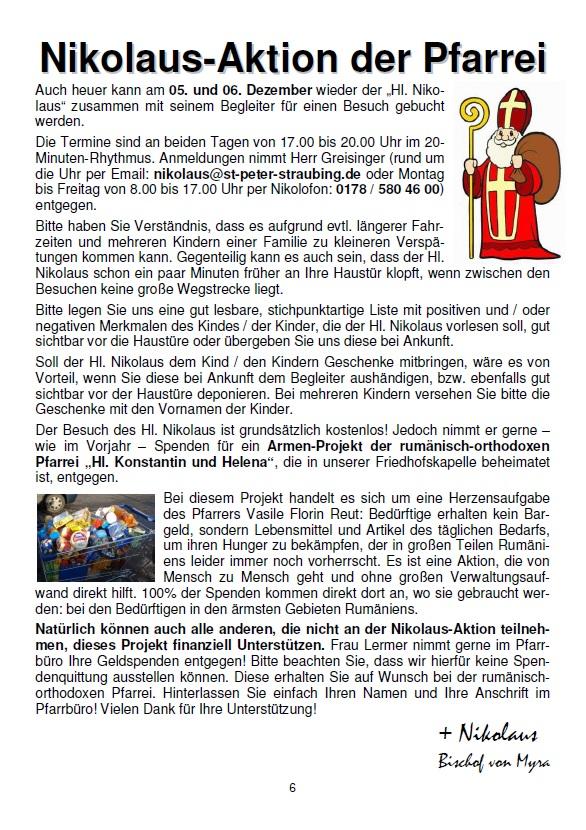 """Actiunea de Sfantul Nicolae (2013) a Bisericii Catolice din Straubing - Toti banii care se vor strange anul acesta de catre Nicolaus (Nikolaus) , sunt donati Bisericii Ortodoxe Romane """"Sfintii Imparati Constantin si Elena"""" din Straubing,  pentru ajutorarea saracilor din Romania * www.credinta-ortodoxa.com"""