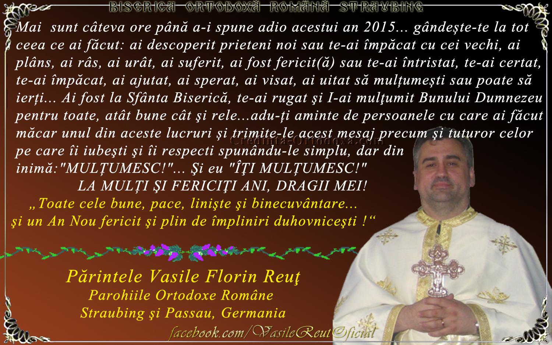 """""""A mai trecut un an şi-n veci n-o să mai fie""""... cum trebuie să începem creştineşte acest an nou?"""