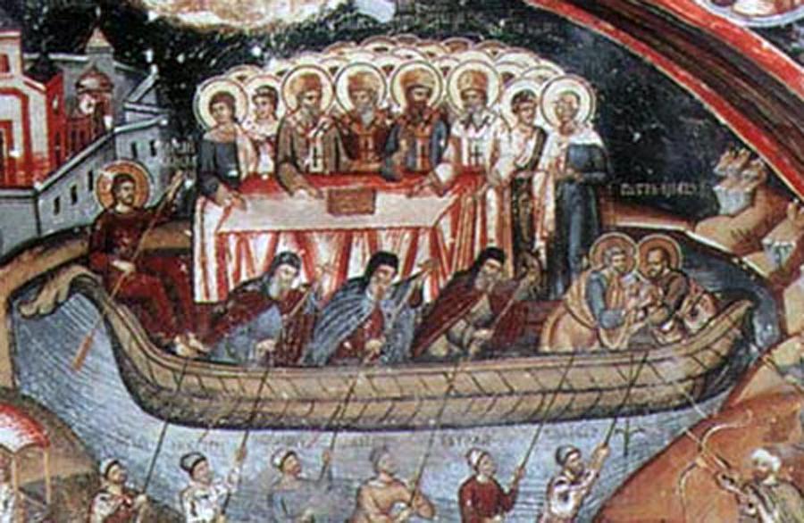 Viata crestinului inseamna mai intai de toate participare la Jertfa si Invierea lui Hristos. Ori, nu putem participa la acestea din afara Bisericii * www.credinta-ortodoxa.com