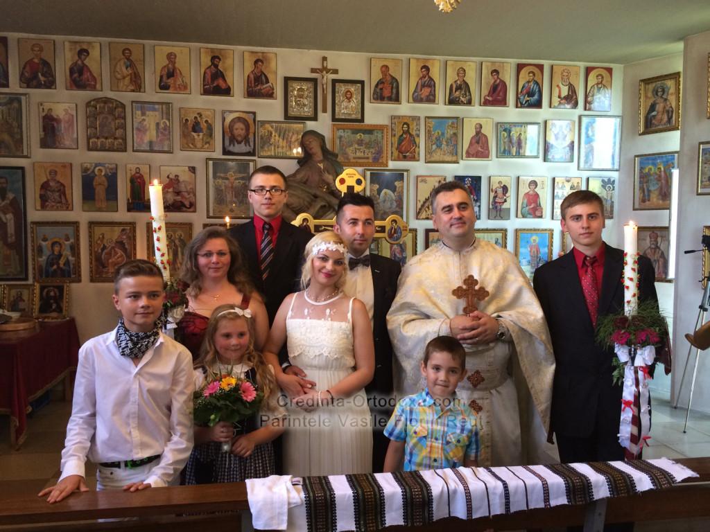 Taina Cununiei unita cu Sfanta Liturghie la Biserica Ortodoxa Romana din Straubing * www.credinta-ortodoxa.com