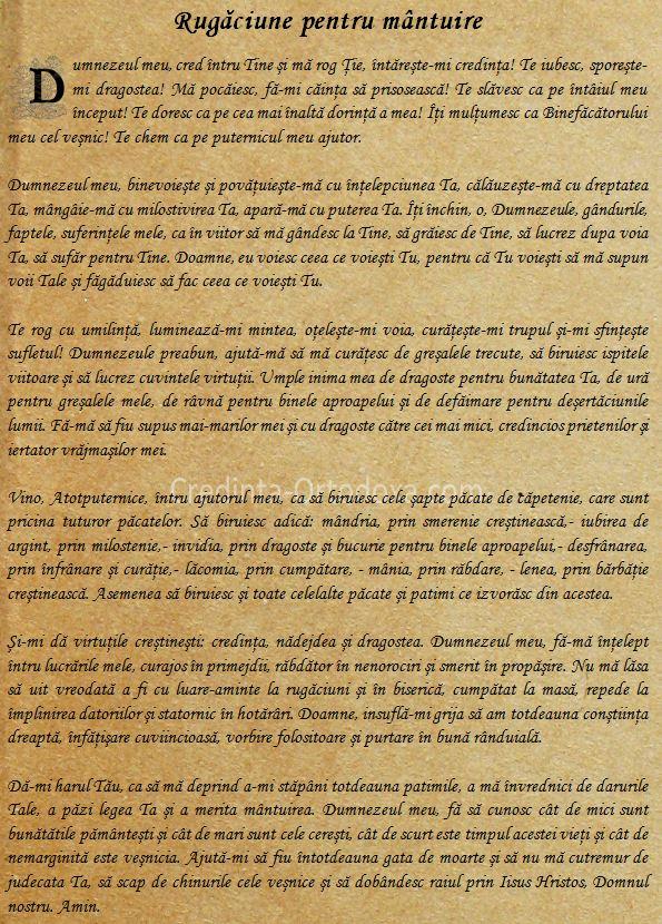 Rugaciune pentru Mantuire * www.credinta-ortodoxa.com