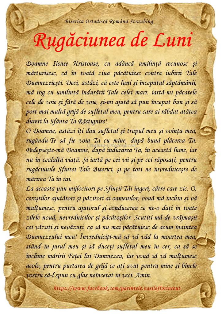Rugaciunea de luni * www.credinta-ortodoxa.com