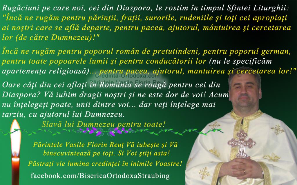 Rugaciuni pe care noi, cei din Diaspora, le rostim in timpul Sfintei Liturghii * www.credinta-ortodoxa.com