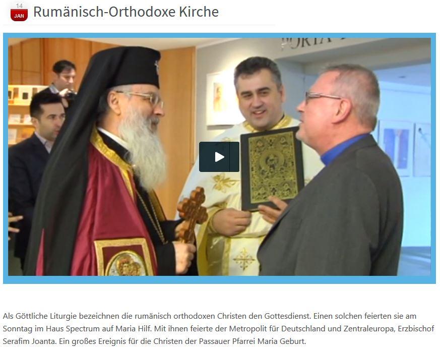 Rumänisch-Orthodoxe Kirche  bei TRP1 Fernsehen aus Passau