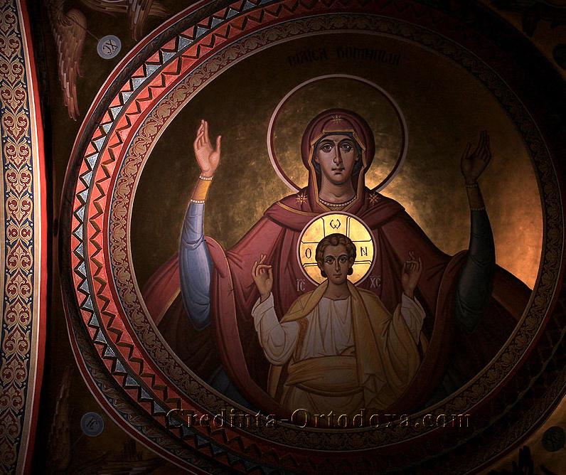 Manastirea Putna: Maica Domnului si Pruncul Iisus