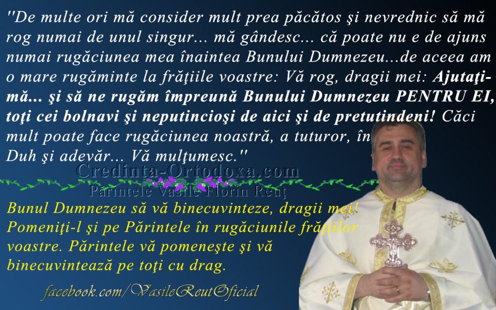 Parintele se afla internat in spital - totusi Duminica are loc Sfanta Liturghie