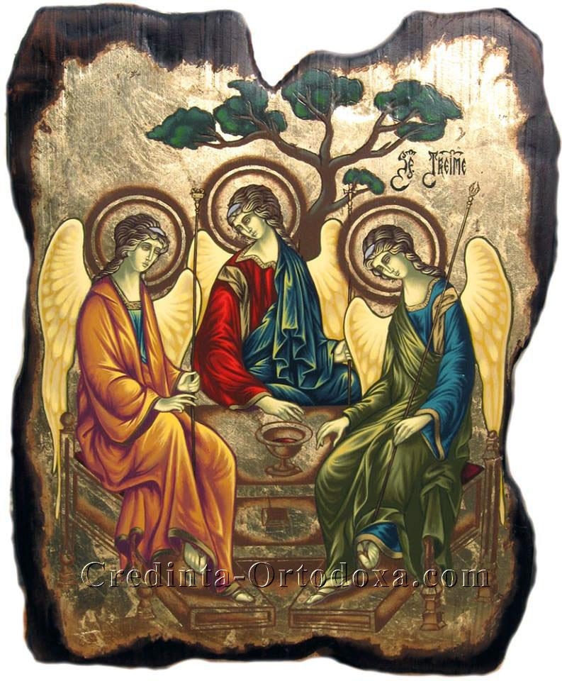 """""""Nădejdea mea este Tatăl, scăparea mea este Fiul, acoperământul meu este Duhul Sfânt. Treime Sfântă, slavă Ţie."""""""