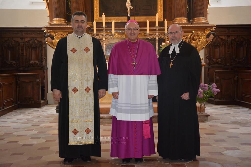 Ökumenische Vesper an Christi Himmelfahrt 2015 mit Bischof Rudolf Voderholzer, Regionalbischof Hans-Martin Weiss und dem rumänisch-orthodoxen Pfarrer Vasile Florin Reut