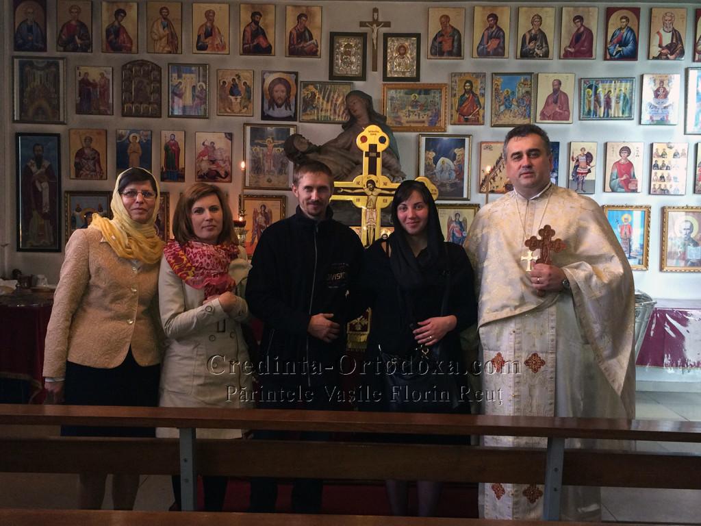 Oaspeti la Parohia Ortodoxa Romana Straubing: Parintii micutului Johann Nikolas