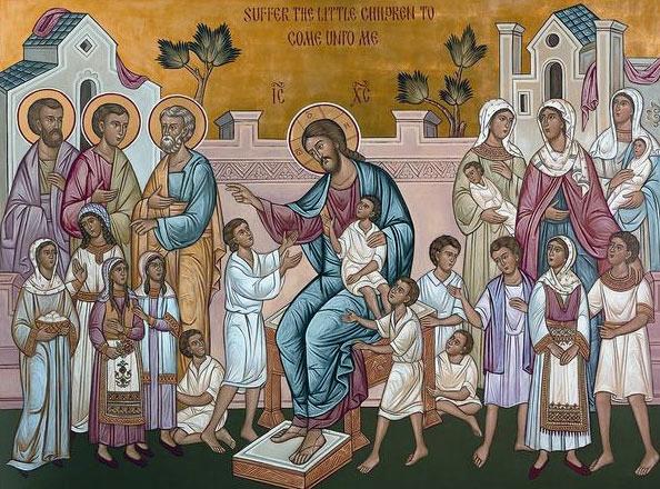 """Mantuitorul nostru Iisus Hristos: """"Lasati copii sa vina la mine si nu-i opriti, caci a unora ca acestia este Imparatia lui Dumnezeu"""" (Marcu 10, 14)"""