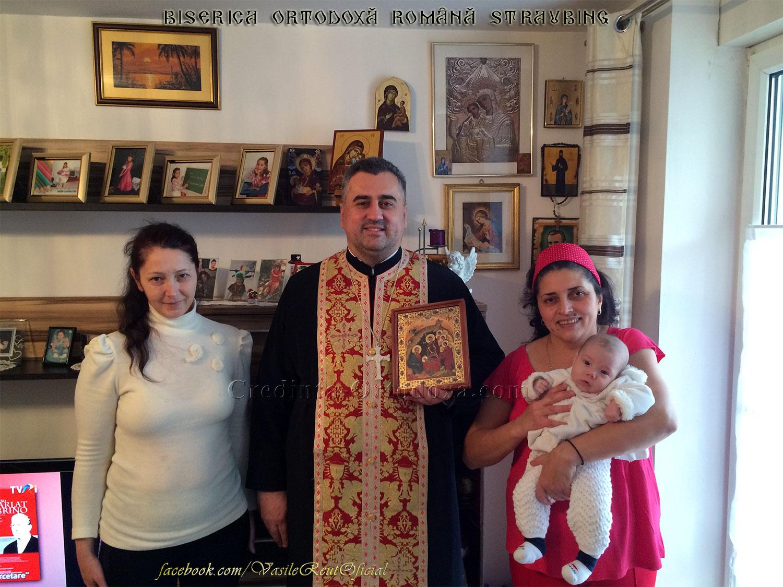 Bucuria de a păstra Credinţa şi Tradiţia Strămoşească: În vizită pastorală cu Icoana Naşterii Domnului la o familie de credincioşi din Dingolfing