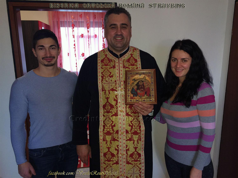 Bucuria de a păstra Credinţa şi Tradiţia Strămoşească: În vizită pastorală cu Icoana Naşterii Domnului la o familie de credincioşi din Straubing