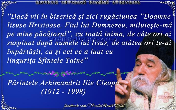 Părintele Arhimandrit Ilie Cleopa