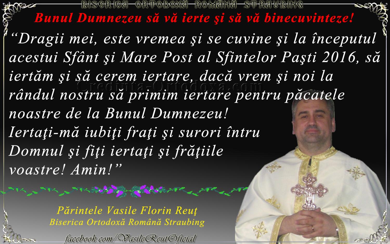 """Părintele Vasile Florin Reuţ, Biserica Ortodoxă Română """"Sfinţii Împăraţi Constantin şi Elena"""" Straubing"""