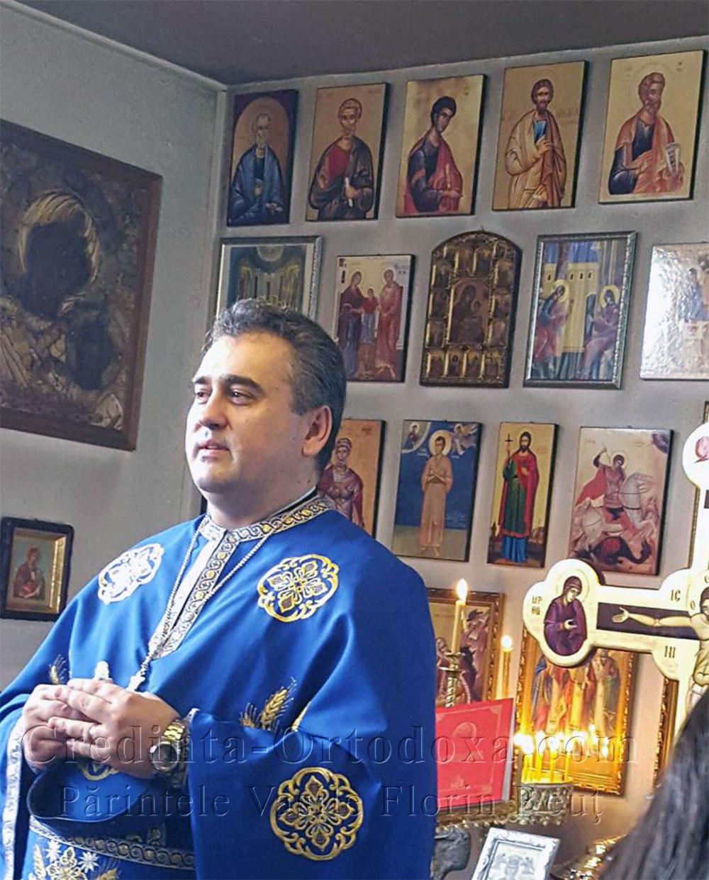 Părintele Vasile Florin Reuţ a avut parte de o surpriză deosebită din partea credincioşilor