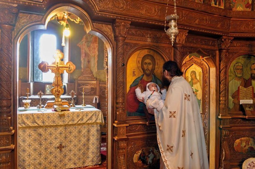 Îmbisericirea pruncului după Sfântul Botez