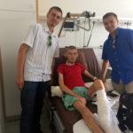 Tinerii Sebastian şi Dimitrie în vizită la fratele Nicolae Cosmin Paunescu