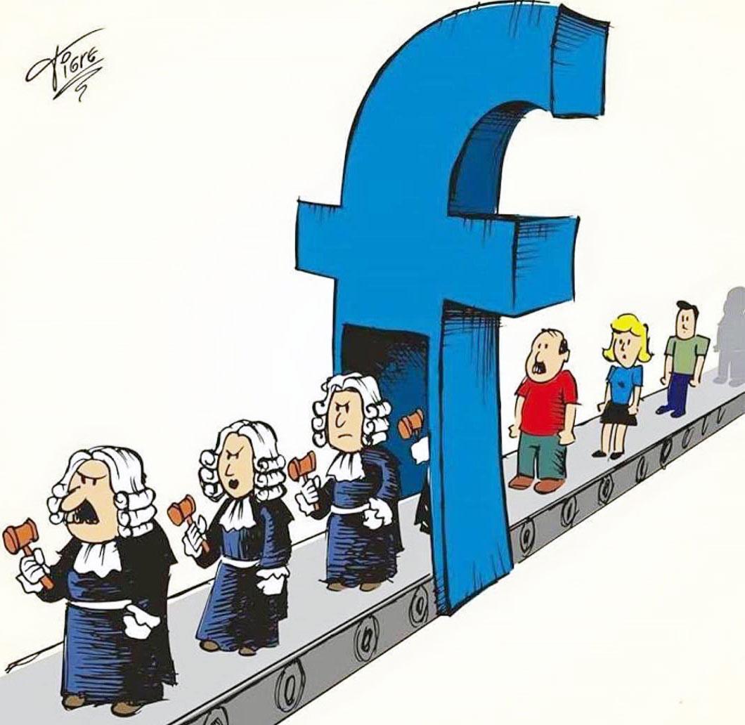 Judecători pe FaceBook şi manipularea pe net