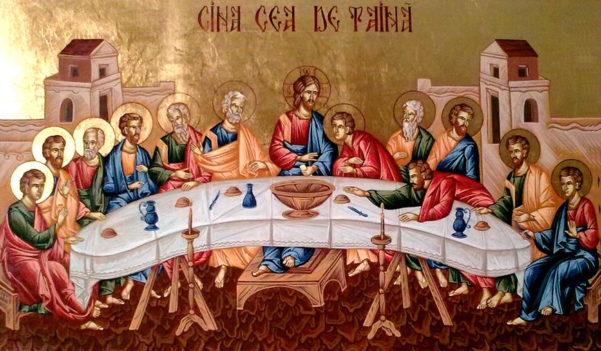 """Cina Cea De Taina: """"Iar El, răspunzând, a zis: Cel ce a întins cu Mine mâna în blid, acela Mă va vinde"""" (Matei 26, 23)"""