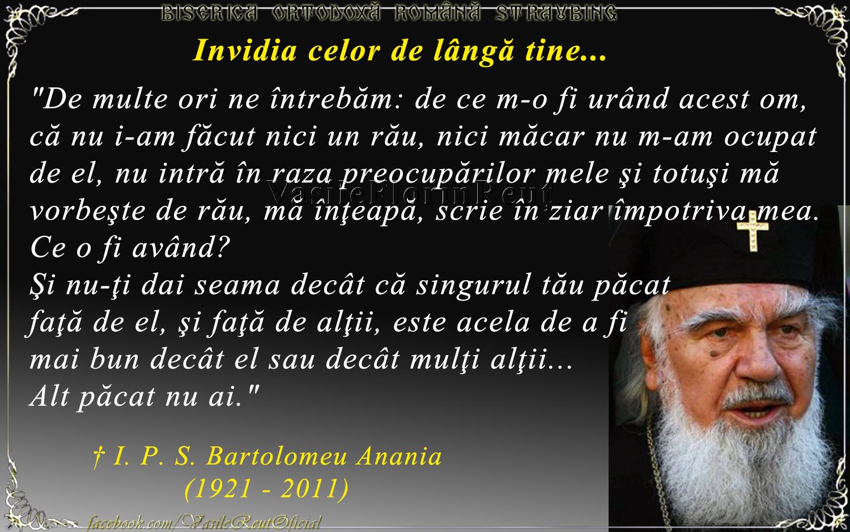 Invidia celor de lângă tine - IPS Bartolomeu Anania