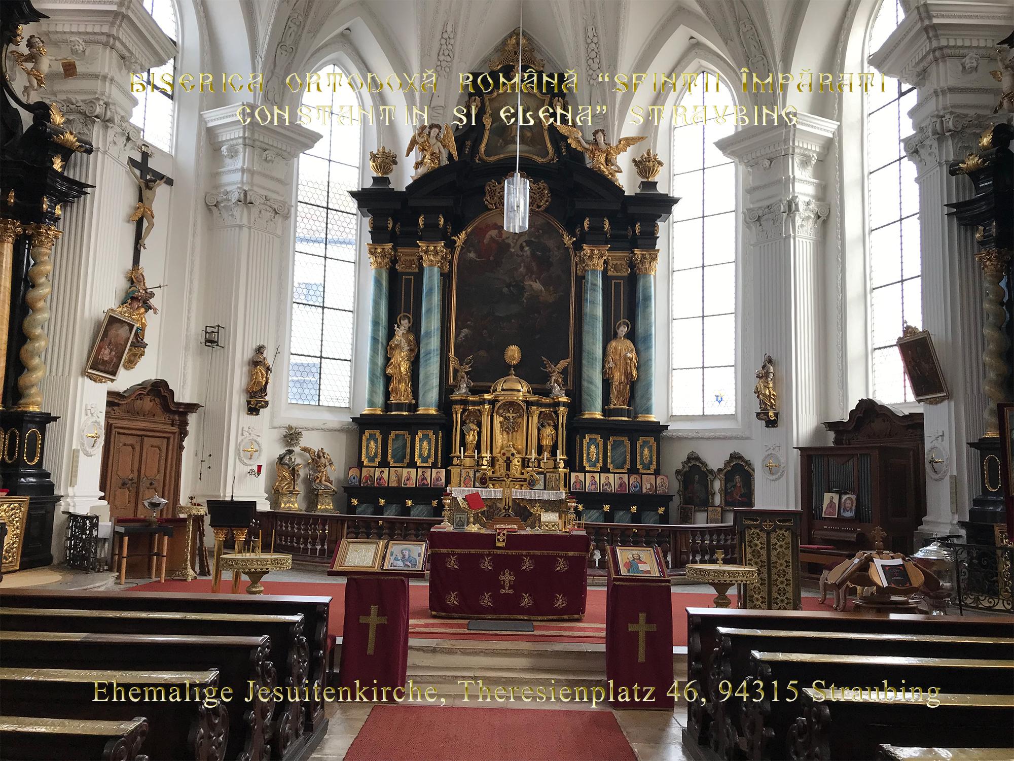 """Jesuitenkirche - Biserica Ortodoxă Română """"Sfinţii Împăraţi Constantin şi Elena"""" din Straubing"""