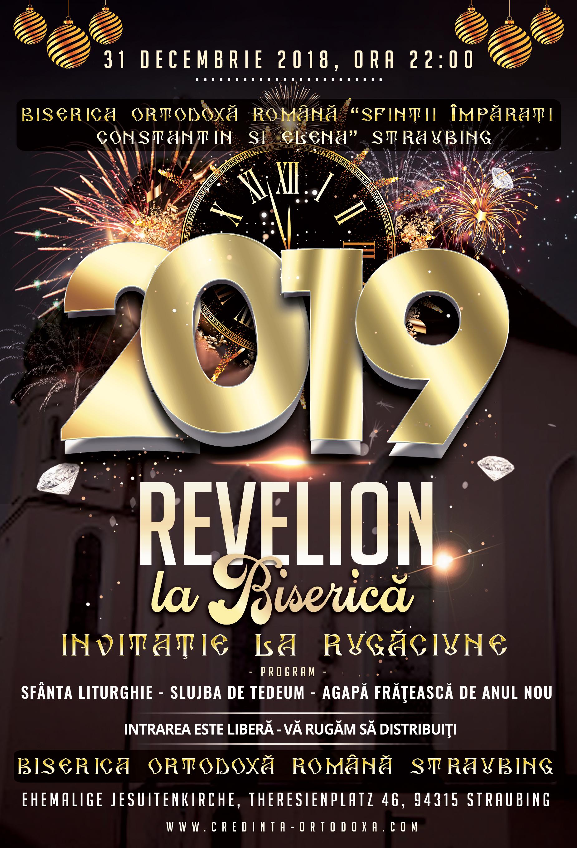 Revelion 2019 la Biserica Ortodoxă din Straubing - Invitaţie la rugăciune