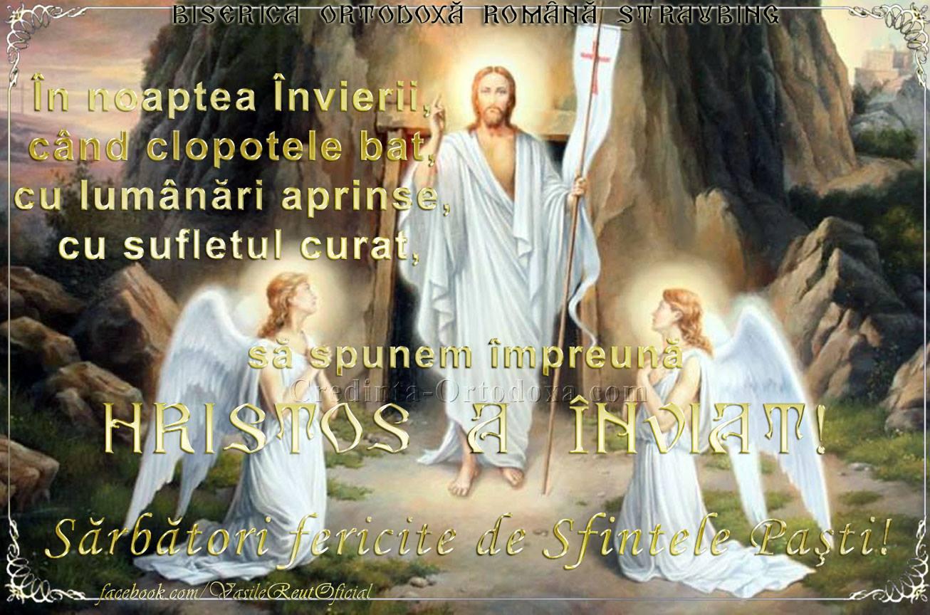 SÂMBĂTĂ, 27 APRILIE 2019 - ÎNVIEREA DOMNULUI, SFINTELE PAŞTI