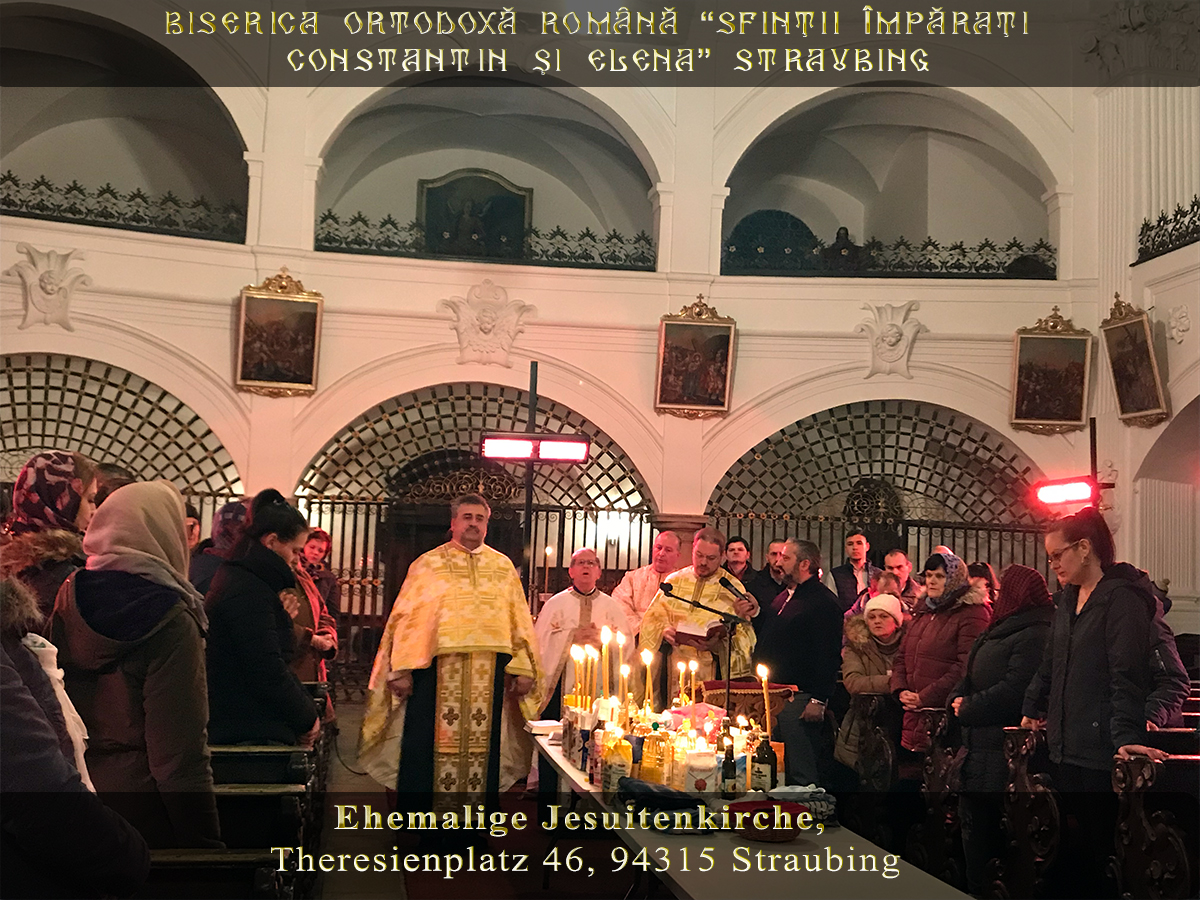 TAINA SFÂNTULUI MASLU la BISERICA ORTODOXĂ ROMÂNĂ STRAUBING