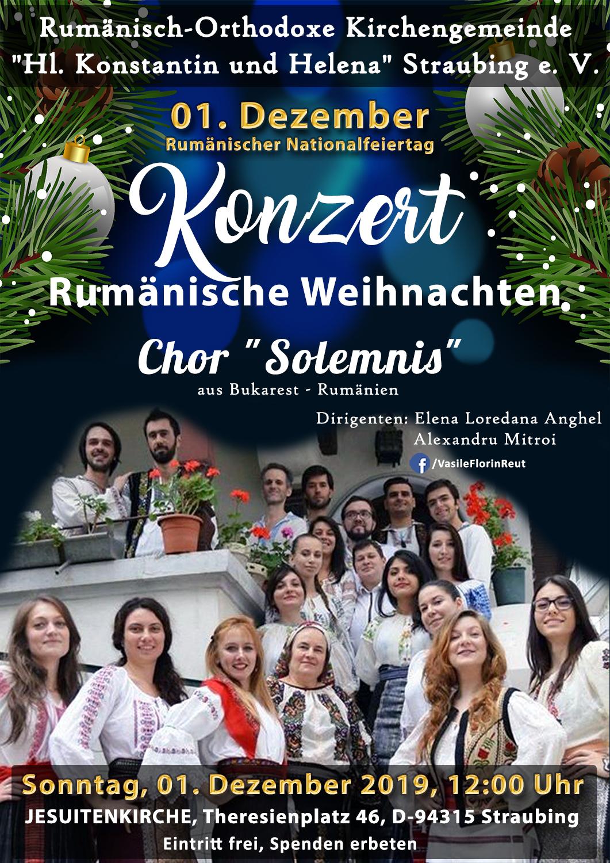 Ziua Naţională a României 2019: Sfânta Liturghie şi CONCERT DE COLINDE la Straubing