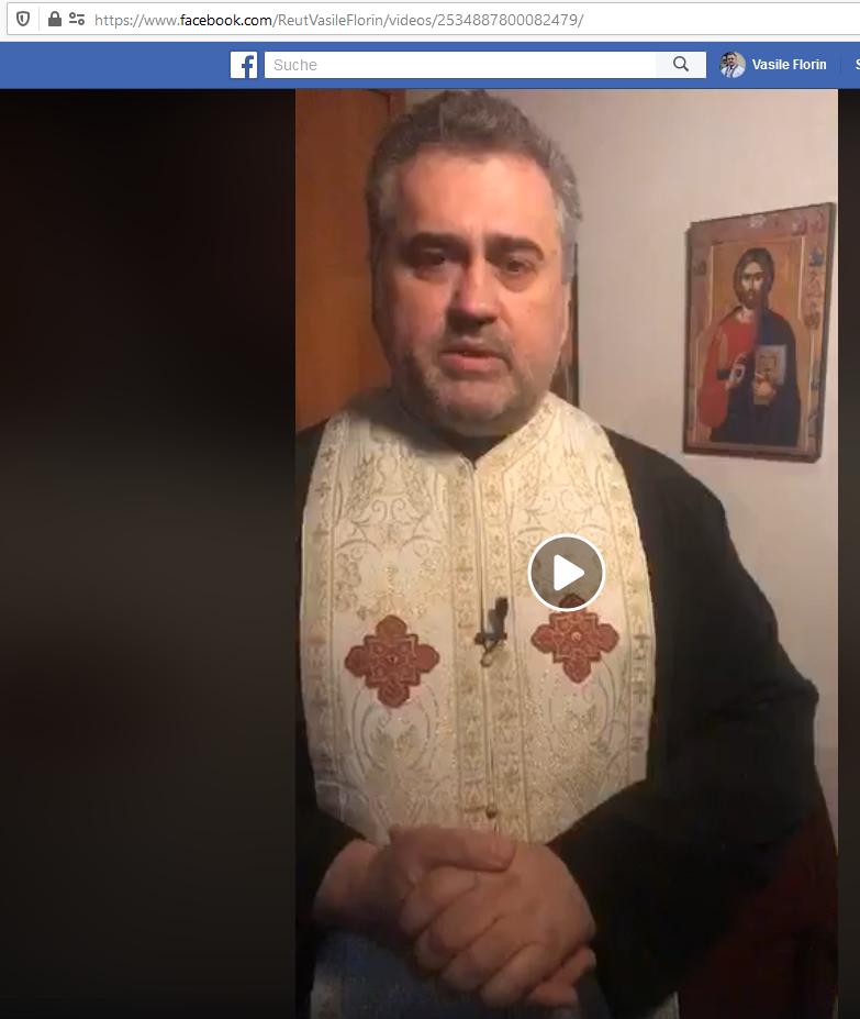 """Rugăciuni pentru încetarea epidemiei de Coronavirus - LIVE pe pagina de Facebook """"Vasile Florin Reut"""""""