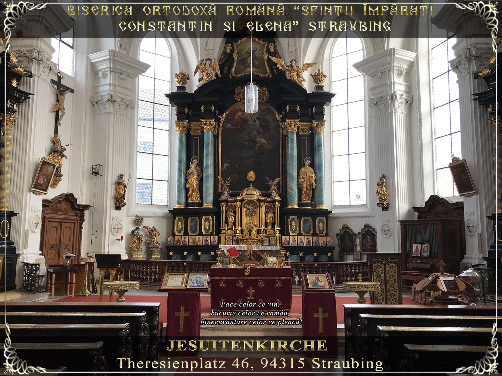 Jesuitenkirche Straubing - Program Liturgic 2020