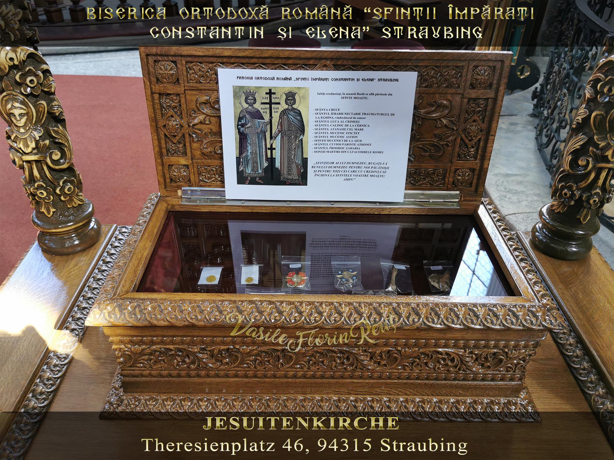 SFINTELE MOAŞTE expuse spre închinare în Biserica Ortodoxă Română din Straubing